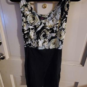 MOTEL dress. Sz S. Black and brown